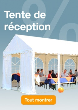 Tente de réception PROMOTIONS
